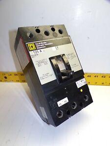 SQUARE D 125 AMP CIRCUIT BREAKER 480 VAC 3 POLE  KCL34125
