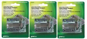 3 New! Hillman AnchorWire 0.8 oz. Steel Flush-Mount Picture Hanger 2 pk 122207