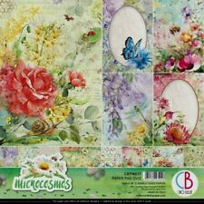"Ciao Bella 12 Sheet Paper Pad Microcosmos12"" X 12"" 23 Designs & 5 Cards New"