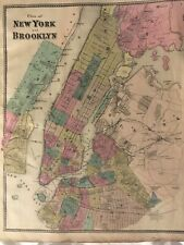 Plan of New York and Brooklyn 1867 Lithograph by F.W. Beers