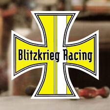 Blitzkrieg Racing Iron Cross Sticker Aufkleber Autocollante Cox gelb 70mm