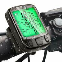 LCD Fahrradcomputer Kabellos Funk Fahrrad Kilometerzähler Tachometer Wasserdicht