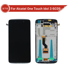 "NEW ALCATEL ONE TOUCH IDOL 3 6039 OT6039 4.7"" LCD+TOUCH SCREEN DIGITIZER W FRAME"