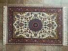"""Fine Hand Knotted Vintage Floral Per/sian Fine Silk and Wool 3' 5"""" x 5' 1/2"""" Rug"""