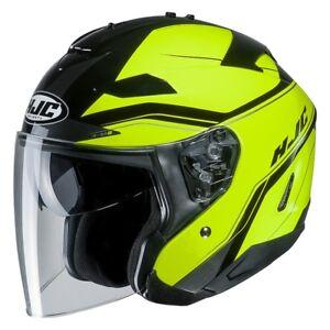 Casco Helm Casque Helmet HJC IS-33 II 2 JET KORBA MC4H taglia XXL GIALLO 2019