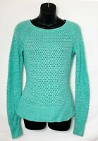American Eagle Women's Long Sleeve Seafoam Knit Sweater! Zipper. Logo. Sz XS