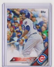 2016 TOPPS JORGE SOLER BASE CARD - CARD #252 - CHICAGO CUBS - FREE SHIPPING