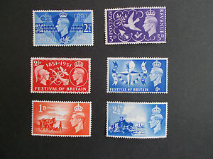 GB GVI 1946-51 3 Complete Sets: Victory, Liberation & Festival of Britain M/N/H
