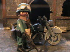 PLAYMOBIL CUSTOM  MOTORISTA WEHRMACHT+BMW   (FRANCE-1944) REF-001