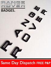 3D Black & Chrome Bonnet Boot Letters Badge for Range Rover Sport 2005 - 2009