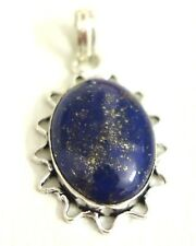 PENDENTIF pierre de soleil bleu NEUF Superbe! Très beau! Hauteur total 4,3cm