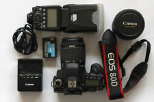 Canon EOS 80D 24.2MP Digital SLR Camera Kit - Black (1263C005)