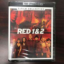 Red 1 & 2 2-Film Collection 4K ULTRA HD Blu-ray Bruce Willis, Morgan Freeman