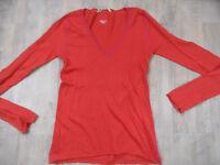 DEAR CASHMERE schöner leichter Pullover orange Gr. S TOP BI418