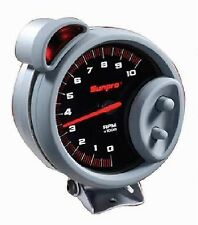 "Sunpro 5"" Sport ST Tachometer 0-10.000 RPM New Black / Brushed Bezel CP7900"