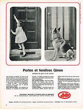 PUBLICITE ADVERTISING  1964  GIMM   portes & fenetres