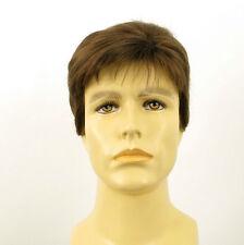 Perruque homme 100% cheveux naturel châtain clair ref FRANCOIS 8