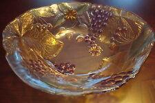 Savoir Faire Japanpolychrome  glass centerpiece, grapes, leaves[10-2]