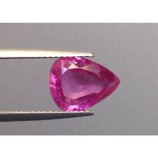 Natural Unheated Pink Sapphire Purple-pink color Pear shape 3.25 carats