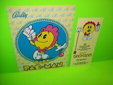 BABY PACMAN Pinball FLYER Set Of (2) Original NOS Arcade Pinball Machine BALLY