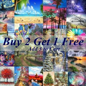5D Crystal Full Round Paint With Diamond Art Scenery Picture DIY Kits Embroidery