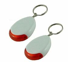 New 2pc Sonic KeyFinder Keychain W/Flashing Light & Free Replacement Batteries