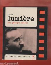 """CINEMA. Louis Lumière / Georges Sadoul.""""Cinéma d'aujourd'hui"""" Seghers.1 Edt 1964"""
