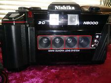 Nishika N8000 35mm 3D Camera & Case