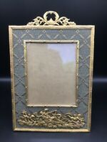 Beautiful Large Antique French Gilt bronze / Brass easel back Picture Frame