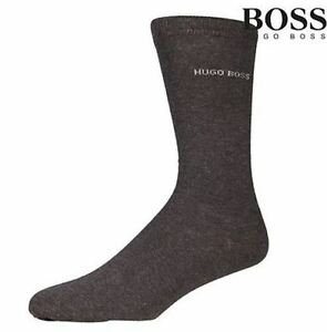 HUGO BOSS Men's socks Grey color Dress/Casual socks US Size 7-9. 4 Pairs