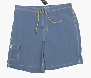 NEW Polo Ralph Lauren Swim Shorts (Bathing Suit)!  XL  Blue With Red Polo Player
