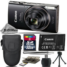Canon PowerShot ELPH 360 Digital Camera (Black) 1096C001 - 32GB