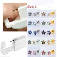 Hot Disposable Sterile Body Ear Nose lip Piercing Device Kit Tool Stud Fashion