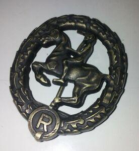 WWI WW2 German Horse Riders Badge in Bronze Pin Medal