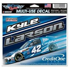 Kyle Larson #42 Credit One Bank 5 x 6 Multi-Use Decal Free Ship 2018