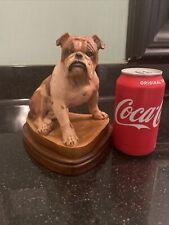 "Vintage ANRI Bulldog Wood Carving Signed Helmut Diller Italy 6"" See Desc."