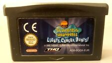 Nintendo Game Boy Advance Spongebob Squarepants Lights, Camera, Pants! Cartridge