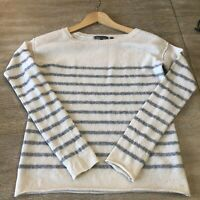 VINCE Cashmere Wool Blend Striped Sweater Size Small S