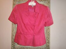 Papell Pink Silk Blouse Top~Asian Frog closure~Sz 4 Petite~Lined~Great w/ black!