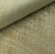Floral Lace - Cream - 100% Polyester - Metre