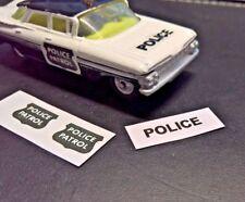 Corgi Toys, Dinky, ect, (Set of Police Patrol Stickers) No Car,