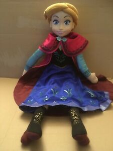 """Disney Frozen 30"""" Singing Anna Plush Doll used in working order good condition"""