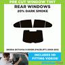 SKODA OCTAVIA 5-DOOR (FACELIFT) 2009-2012 20% DARK REAR PRE CUT WINDOW TINT
