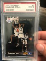 1992 Upper Deck #1 Draft Pick Shaquille O'Neal Rookie Card PSA 9!