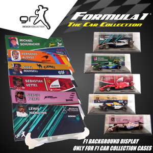 [FULL] F1 Car Collection JUST BACKGROUND DISPLAY Showcase / INLAY / NO MODEL CAR
