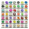 ROUND CRACKLE GLASS BEADS *5 SIZES* *60 COLOURS* JEWELLERY MAKING BEADING CRAFTS