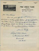 DEADWOOD DICK autographed handwritten letter!!! United States frontiersman, Pony