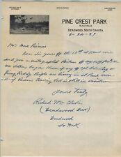DEADWOOD DICK autographed handwritten letter!!! United States frontiersman, Pony