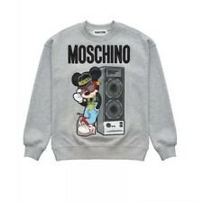 Moschino X HM Grey Mickey Sweatshirt XS NWT