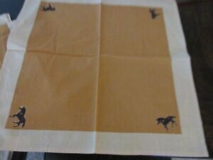 Western Running Horse Marble Canyon Vintage Cloth Napkins, NEW, Set of 4